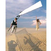 SunBounce Sun-Swatter Big 6' x 8' Kit: Frame and ScreenTranslucent 1/3 Seamless
