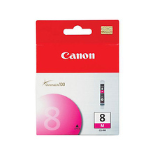 CLI-8 Magenta Ink Tank for the Pixma IP4200, IP5200, IP5200R, IP6600D, MP950, MP500, MP800 & Pro9000 Photo Inkjet Printers Image 0