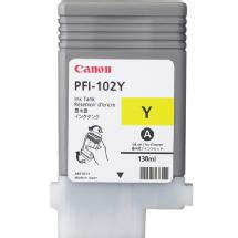 Canon PFI-102Y Yellow 130ml Dye-Based Cartridge