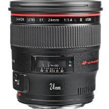 Canon EF 24mm f/1.4L II Wide Angle USM AF Lens