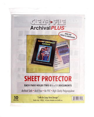 8.5 x 11 Sheet Protector - 10 Pack Image 0