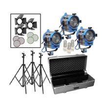 Arri Fresnel Tungsten 3 Light Kit 1950 Total Watts