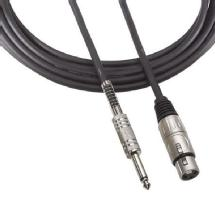 Audio-Technica 1/4 In. T/S Male to 3-pin XLR Female Microphone 25 ft. Cable