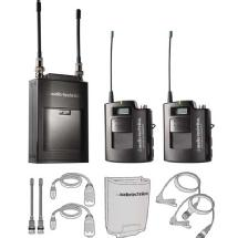 Audio-Technica ATW-1821 - 1800 Series Portable Dual Wireless Microphone System - Includes: ATW-R1820 Dual Receiver and (2) ATW-T1801 Bodypack T