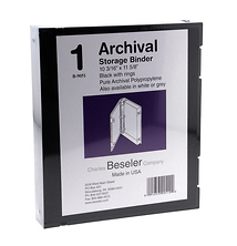 Besfile Archival Binder With Rings 11 5 8 X 10 1 4 In Black