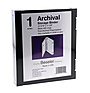 Besfile Archival Binder With Rings 11-5/8 x 10-1/4 in. Black