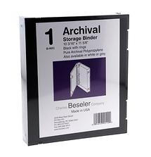 Beseler Besfile Archival Binder With Rings 11-5/8 x 10-1/4 in. Black