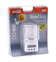 Griffin RoadTrip FM Transmitter and Auto Charger and Cradle for iPod