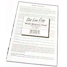 Dot Line Corp. Model Release Form (50 Pack)
