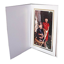 White Photo Folder 5x7 in. (Vertical) Image 0