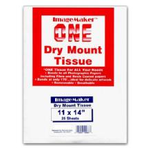 Dot Line Corp. 11x14 Dry Mount Tissue, 25 Sheets