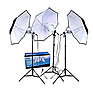 3-Umbrella Tungsten Lighting Kit