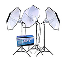 3-Umbrella Tungsten Lighting Kit