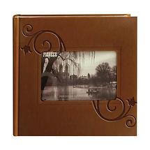 Pioneer Embossed Leatherette Frame Photo Album, Brown Leatherette