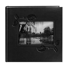 Embossed Leatherette Framer Photo Album, Black Ivy. Image 0