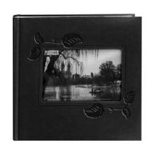 Pioneer Embossed Leatherette Framer Photo Album, Black Ivy.