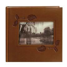 Pioneer Embossed Leatherette Framer Photo Album, Brown Ivy