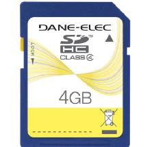 Dane-Elec 4GB Class 4 Secure Digital High Capacity (SDHC) Memory Card