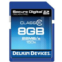Delkin Devices 8GB Pro 150x Class 6 Secure Digital High Capacity Memory Card