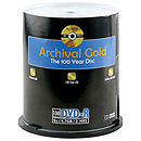 Archival Gold DVD-R 100-Pack Spindle