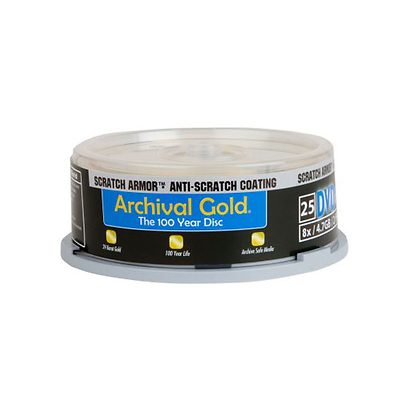Archival Gold DVD-R 25-Pack Spindle Image 0