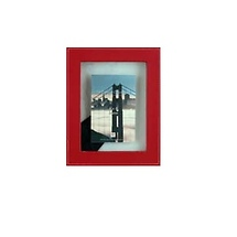 Dennis Daniels Leather Float 4x6 Red Photo Frame