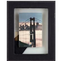 Dennis Daniels Leather Float 5x7 Ebony Photo Frame