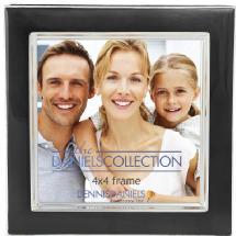 Dennis Daniels Silver Plate Enamel 4x4 Ebony Frame