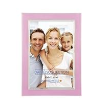 Dennis Daniels Silver Plate Enamel 4x6 Soft Pink Photo Frame