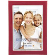 Dennis Daniels Silver Plate Enamel Frame 4x6 Red