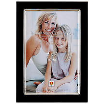 Dennis Daniels Leather Float 5x7 Chocolate Photo Frame