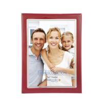 Dennis Daniels Silver Plate Enamel 5x7 Red Photo Frame