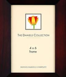 Dennis Daniels 4x6 in. Dark Walnut Beveled Wood Photo Frame