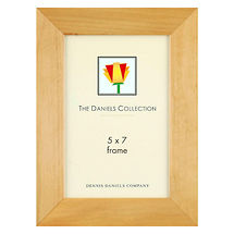 Dennis Daniels Angled Gallery Wood Molding Frame Natural Blonde 5x7 in.