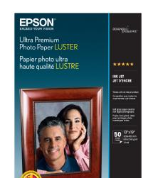 Epson Ultra Premium Photo Paper Luster, 13 x 19in. - 50 sheets