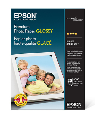 Premium Photo Paper Glossy, 5 x 7in. - 20 sheets Image 0