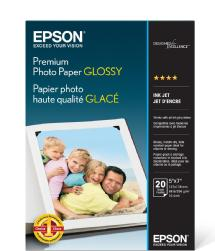 Epson Premium Photo Paper Glossy, 5 x 7in. - 20 sheets