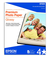 Epson Premium Glossy Photo Ink Jet Paper, 11x14in. - 20 sheets