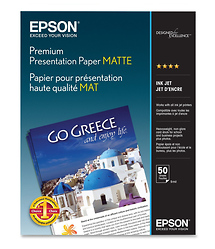 Epson Premium Presentation Paper Matte 8 x 10in. - 50 sheets