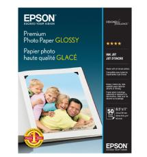 Epson Premium Photo Paper Glossy, 8.5 X 11 in. - 50 Sheets
