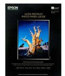 Epson Ultra Premium Photo Paper Luster 8.5 x 11in. - 250 Sheets (Bulk Pack)
