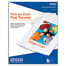 Epson Iron-On Transfer Ink Jet Paper 8.5 x 11 in. 10 sheets