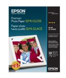 Epson | Premium Semigloss Photo Ink Jet Paper, 8.5 x 11in. - 20 sheets | S041331
