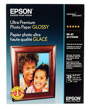 Ultra Premium Photo Paper Glossy 8.5 x 11in. - 25 sheets Image 0