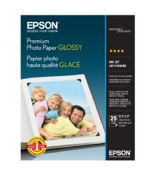 Epson Premium Photo Paper Glossy, 8.5 x 11in. - 25 sheets