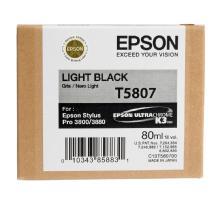 Epson Light Black 80ml for Stylus Pro 3800 / 3880 Printer (T580700)