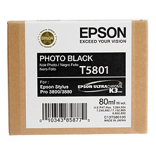 UltraChrome K3 Photo Black Ink Cartridge (80 ml)(T580100) Image 0
