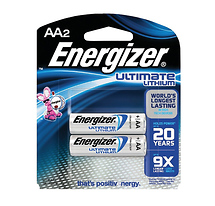 Energizer e2 Photo Lithium Batteries - AA 2-Pack-1.5 Volts