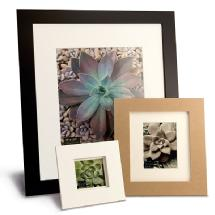 Framatic Metro 18 x 24 Seamless Composite Wood Board Frame Matted for 13 x 19 (Black)