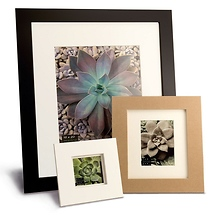 Framatic Metro 11 x 14 Seamless Composite Wood Board Frame Matted for 8 x 10 (Black)